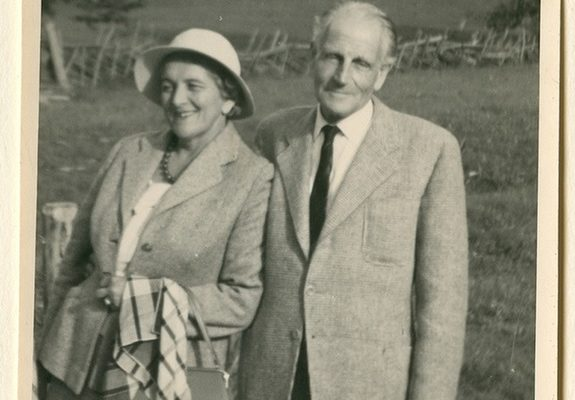 Zwack Béla feleségével, Dodó nénivel